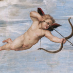 Detail of Fresco Depicting Cupid In Flight