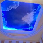натяжной потолок с фотопечатью. матовый. небо с облаками