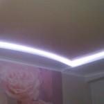 натяжной потолок парящий ( с LED подсветкой). глянцевый, бесшовный, бесщелевой