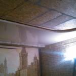 Натяжной потолок сатиновый бесшовный бесщелевой двухуровневый. процесс монтажа