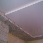 Натяжной потолок сатиновый бесшовный бесщелевой двухуровневый